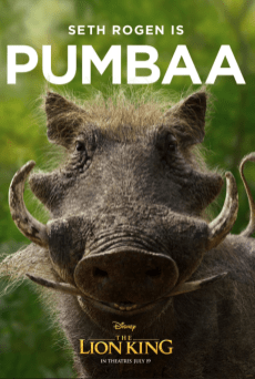 Lion King (2019) - Pumbaa