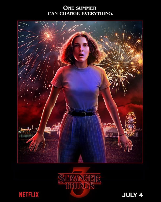 NEW character posters for Stranger Things (2016-): Season 3