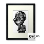 A framed print from the MacKayCartoons Boutique