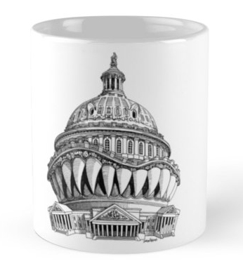 Angry Washington coffe cup, mug