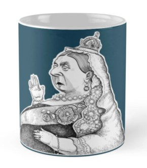 Queen Victoria coffee cup