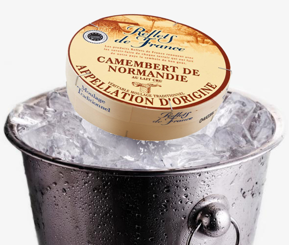 Iced Camembert Photo Montage