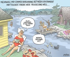 Editorial cartoon by Graeme MacKay, The Hamilton Spectator -