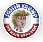 Justin Trump | Available at the MacKaycartoons Boutique Cartoon by Graeme MacKay.  A one-time print license has been extended to Redbubble.com. Unauthorized use is prohibited. All kinds of stickers, greeting cards, postcards, framed prints and t-shirts displaying the illustrations of Graeme MacKay are available for purchase through Redbubble via http://www.redbubble.com/people/mackaycartoons Justin Trudeau, Donald Trump, Election, Canada, Canadian, politics, hair A one-time print license has been extended to Redbubble.com. Unauthorized use is prohibited. All kinds of stickers, greeting cards, postcards, framed prints and t-shirts displaying the illustrations of Graeme MacKay are available for purchase through Redbubble via http://www.redbubble.com/people/mackaycartoons