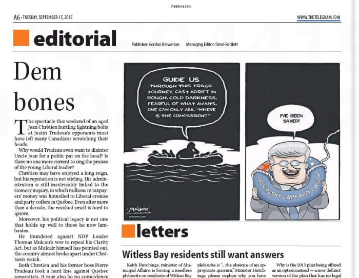 (St. John's) Telegram, September 15, 2015