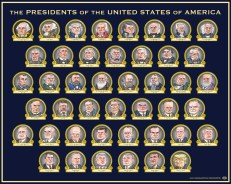 Presidents of the United States of America | By Graeme MacKay 1789 - 2015 For sale at the mackaycartoons boutique President, USA, United States, America, Americana, politics, history, Executive, caricature, wall, chart, list, education, classroom, satire, cartoon