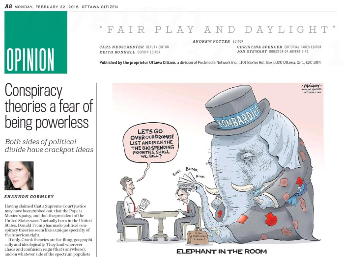 Ottawa Citizen, February 22, 2016