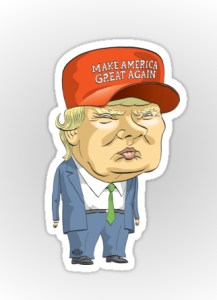 Donald Trump http://www.redbubble.com/people/mackaycartoons/works/21379830-donald-trump Pen & Ink illustration/caricature by Graeme MacKay (Hamilton, Ontario, Canada).  For sale at Redbubble.com via the mackaycartoons boutique
