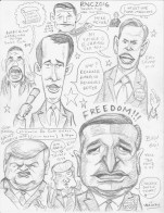 Wed. night live sketch of 2016 RNC