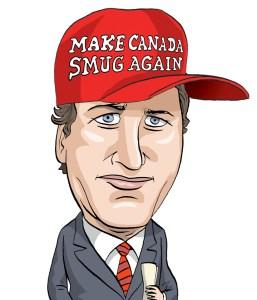 Justin Trudeau, Prime Minister of Canada, 2015. Caricature by Graeme MacKay (Hamilton, Ontario, Canada) 2015. Caricature, Justin Trudeau, Prime Minister, Canada, Canadian, PM, politics, history, Liberal, Quebec