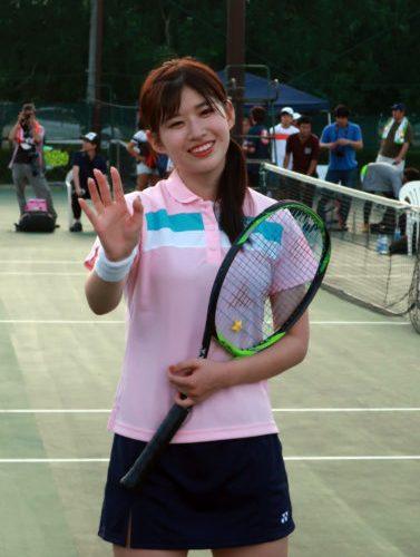 AKB48 あかりん(佐藤朱ちゃん)とテニス!!  速報レポート