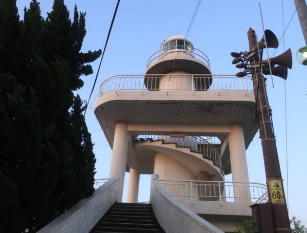 雑賀崎の灯台、日の出,灯台巡り,和歌山県,2019年4月