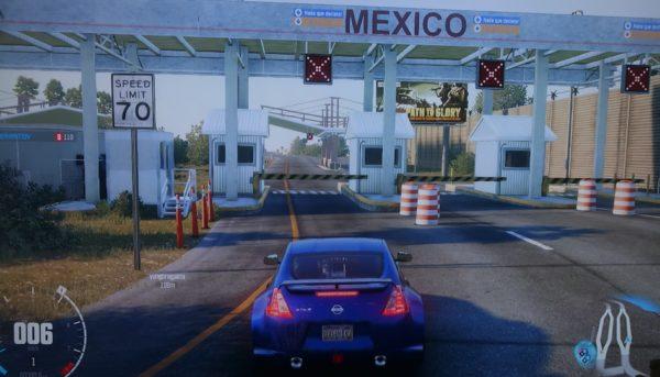 グレイストーンからロサンゼルス方面、西海岸、メキシコ国境、CREW メモ写真
