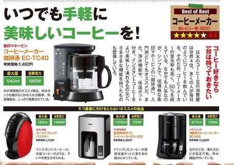 本格的コーヒーメーカーが2000円台って安いよね
