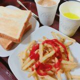トーストとポテトが食べ放題なんですよ!食べ放題!ネットカフェ