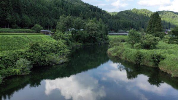 益田川(飛騨川)の清流の絶景, 岐阜県,高山市,久々野町,ドローン【空撮】