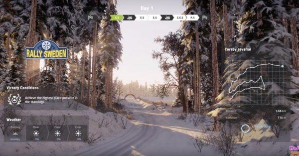 WRC 8 シーズン2 雪道の高速ラリー スウェーデン、トヨタ ヤリス
