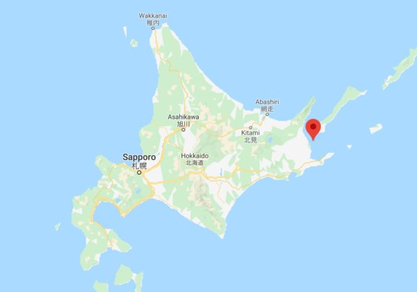 【野付半島】 奇妙な形の半島 空からの写真 絶景 北海道 別海
