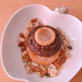 【グラノラ アレンジ】チョコクッキーのせるパターン ドーナツ2段重ねとグラノラ