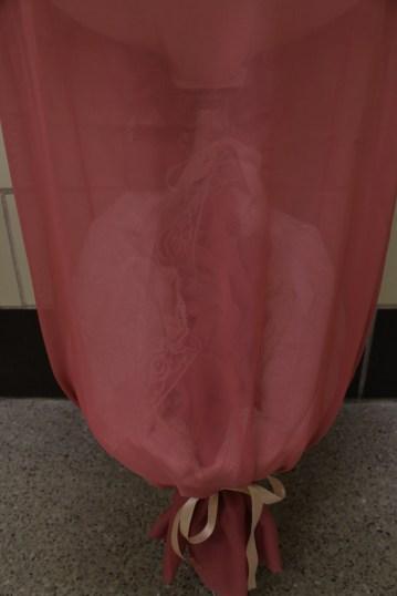 Womanhood. Fabric, ribbon, lace, stuffing. 2016. (Detail)