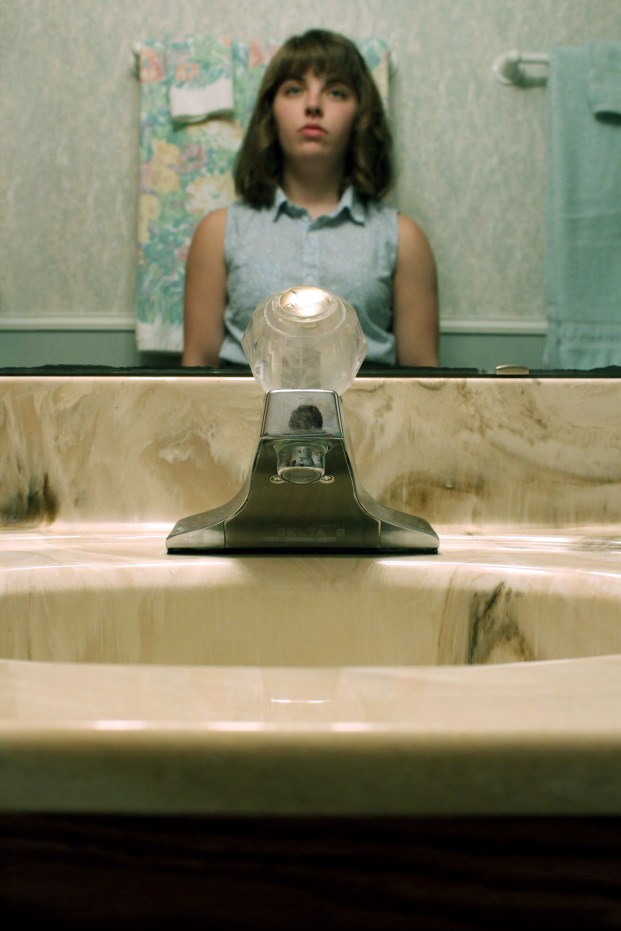 Self Portrait at Sink. Digital photography. 2015.