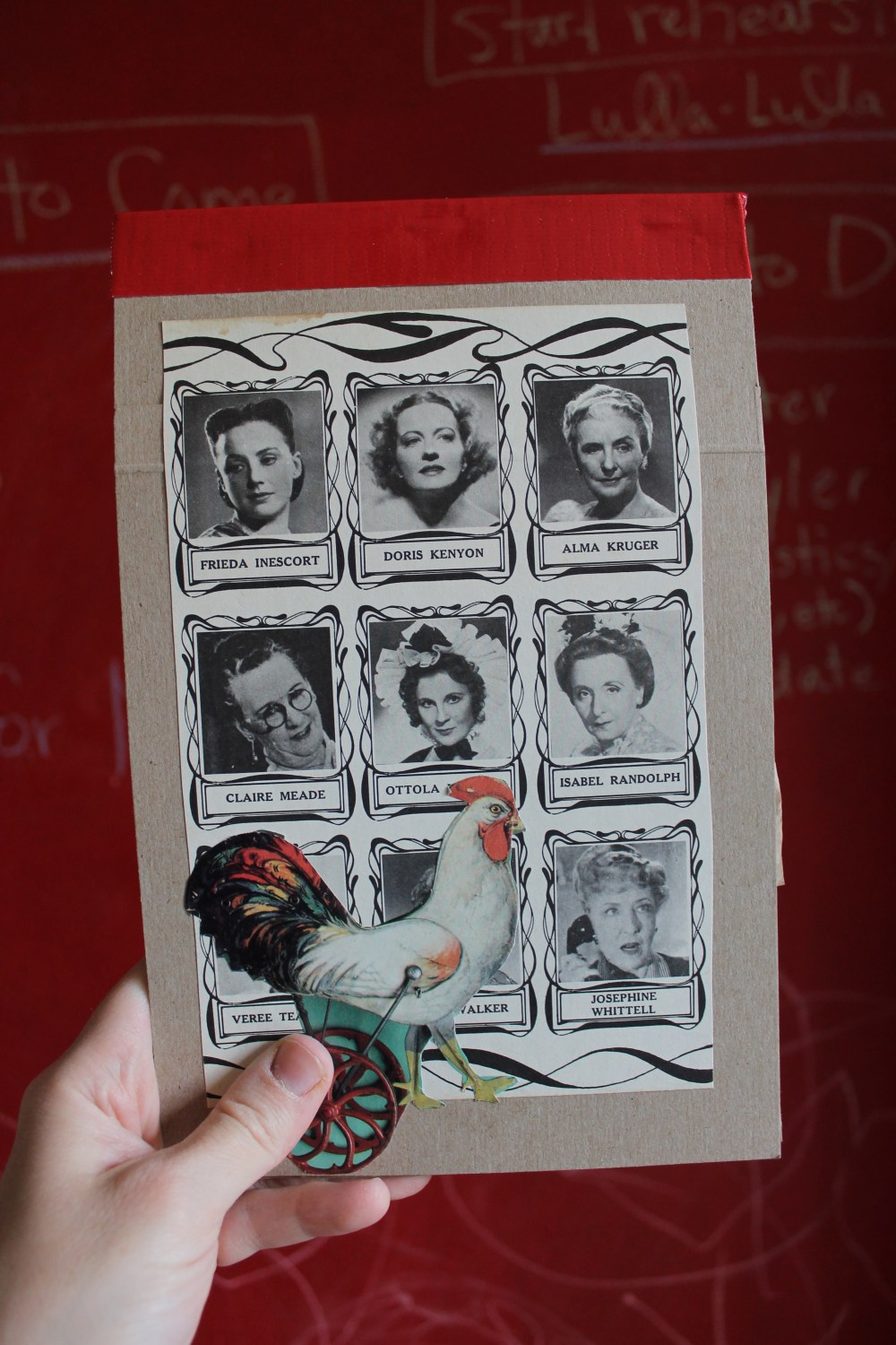 Handmade Day # 10: 1940's Actresses with Rooster Recycled Journal