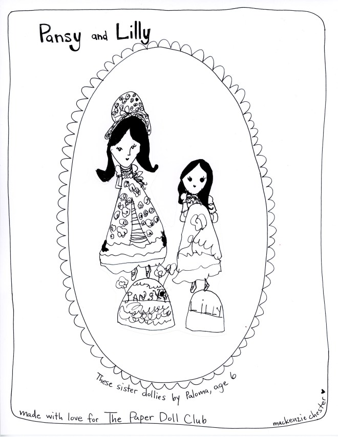 free printable paper doll made by Paloma Chester (age 6) of The Paper Doll Club