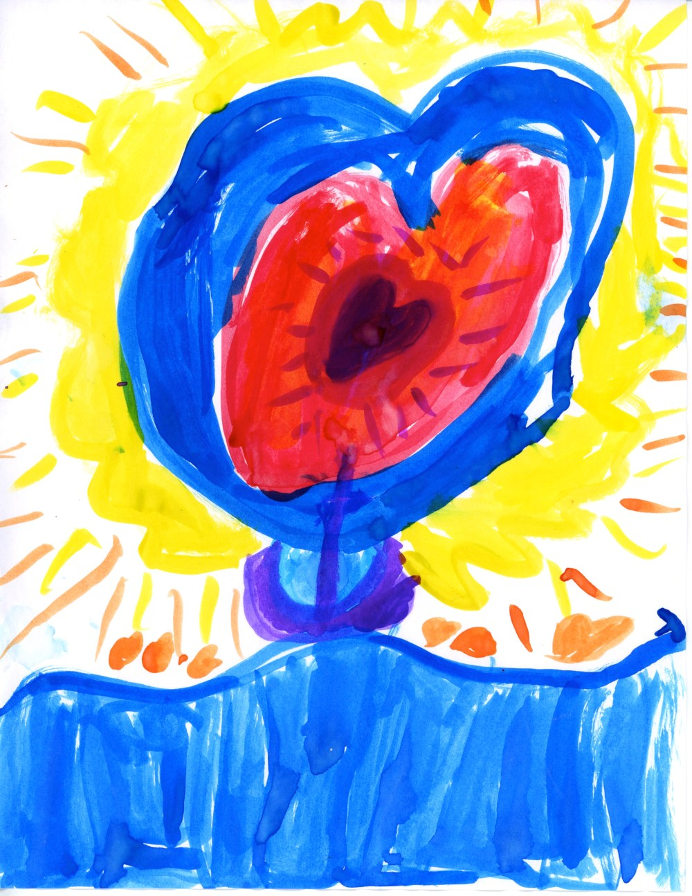 heart, yearning, open heart, children's drawing, mackenzie chester, the sacred everyday