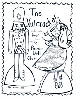 Nutcracker paper doll club by Mackenzie Chester