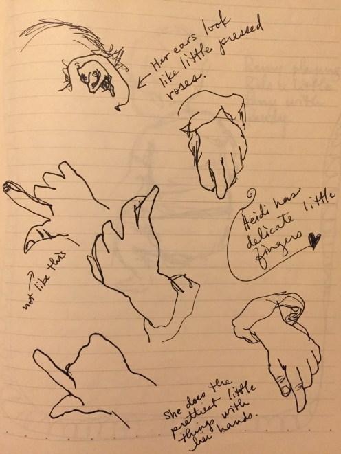 heidi's ears and fingers