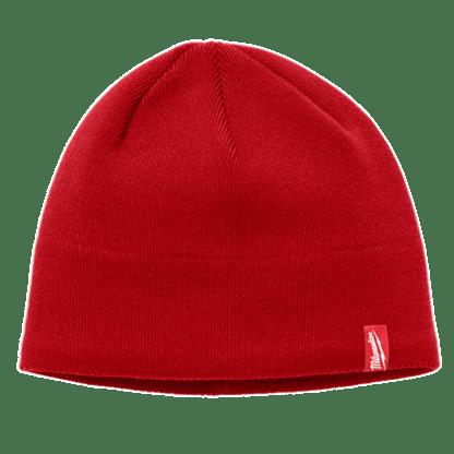 Fleece lined beanie - red