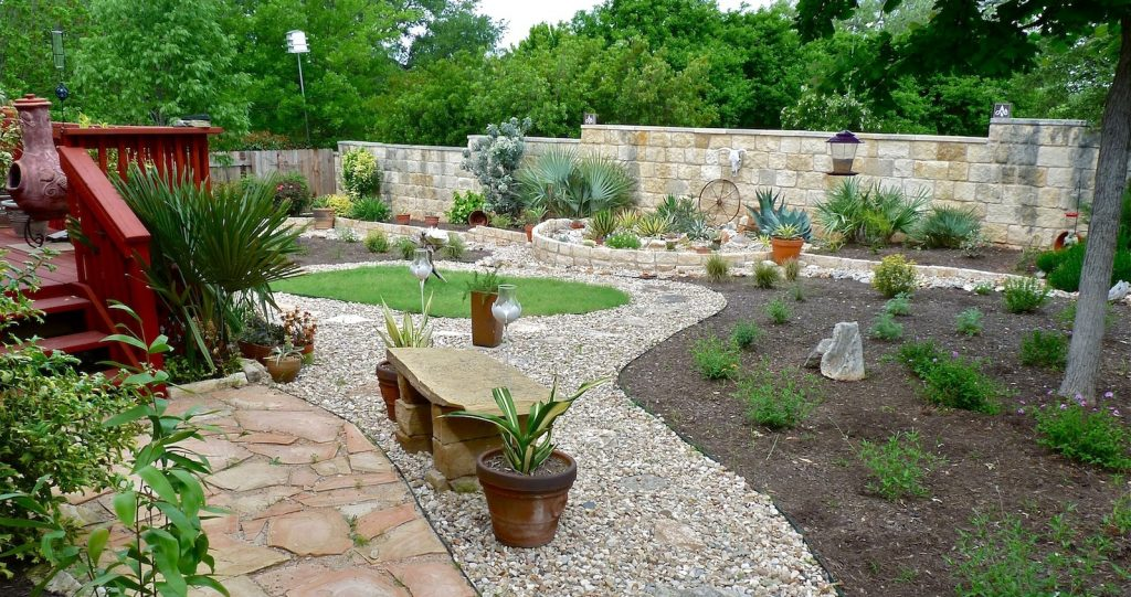 Xeriscaping - conserving water through creative landscaping on Rocks In Backyard  id=88866