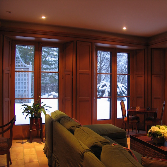 Panelled living room Toronto MacKneson Design Inc