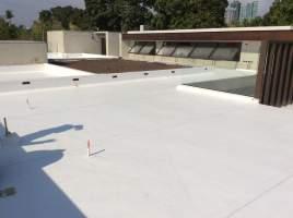 Antonio Co installation of Sika Sarnafil PVC membrane