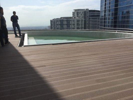 Wood decking over Sika Sarnafil installation