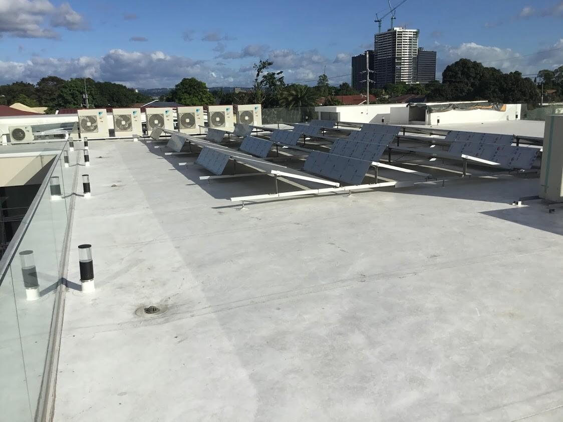 Sarnafil plus solar installation