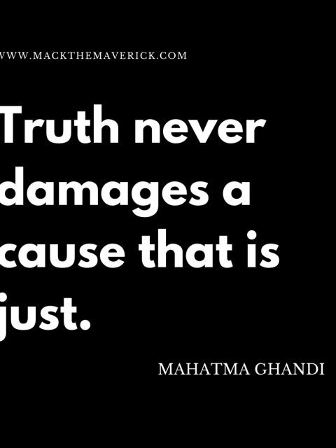 Truth Ghandi Quote