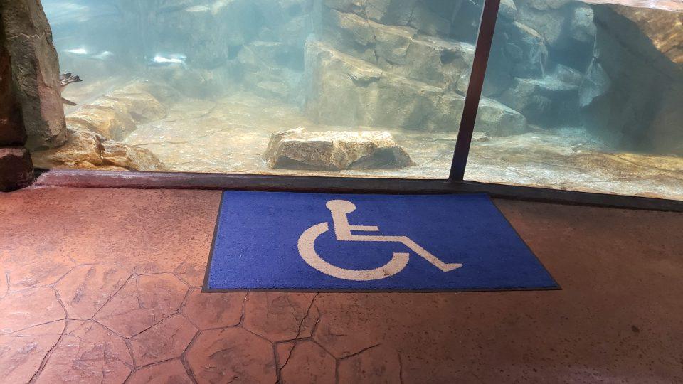 Georgia Aquarium Handicap sign