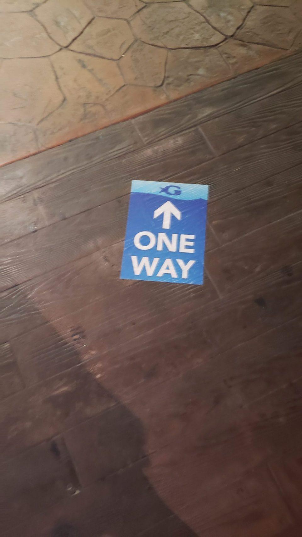 Georgia Aquarium one-way sign