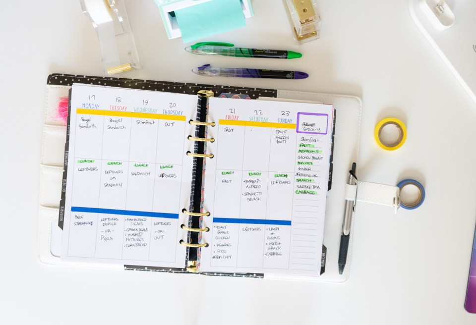 open a5 ring planner