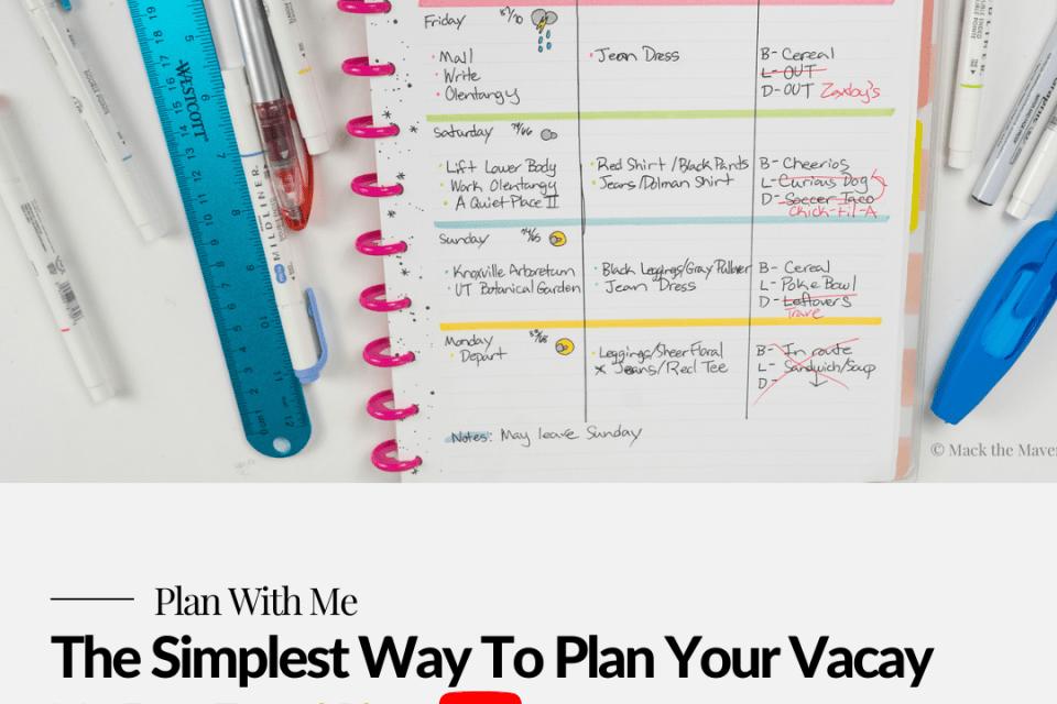 simple travel plan