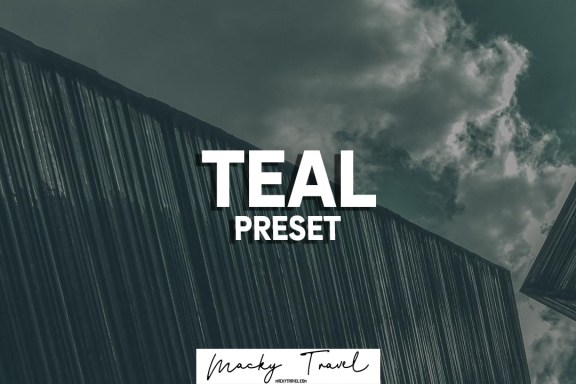 Teal lightroom presets
