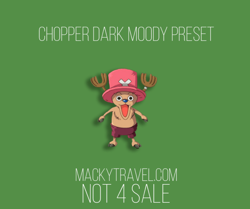 Chopper Dark Moody Lightroom Mobile Preset