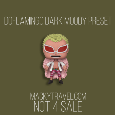 Doflamingo Dark Moody Lightroom Mobile Preset