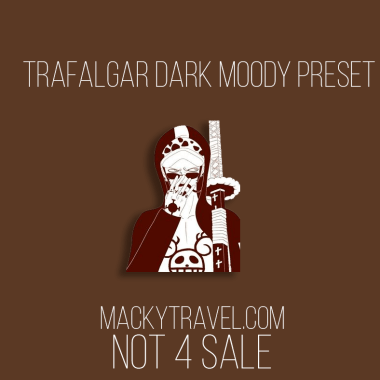 Trafalgar Dark Moody Lightroom Mobile Preset