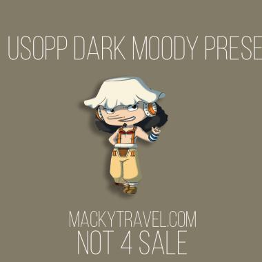 Usopp Dark Moody Lightroom Mobile Preset