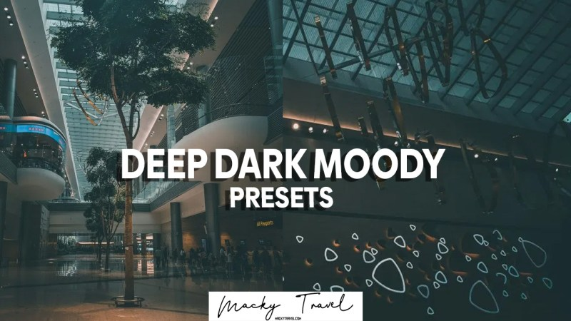 deep dark moody lightroom presets