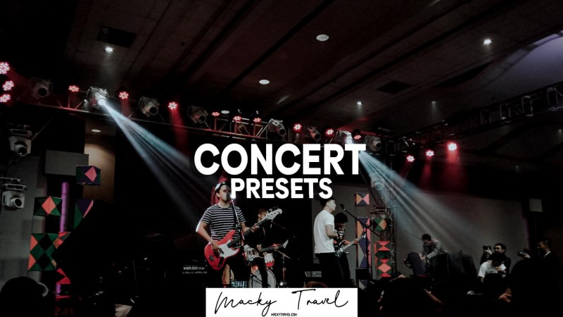 2 concert lightroom presets