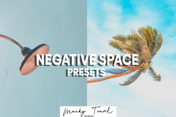 negative space lightroom presets