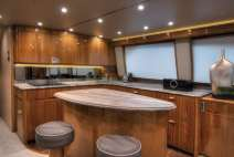 viking 62 convertible yacht leathered sequoia brown granite countertop island